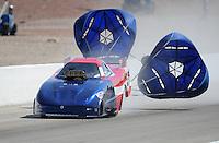 Mar. 31, 2012; Las Vegas, NV, USA: NHRA top alcohol funny car driver Ross Stickler during qualifying for the Summitracing.com Nationals at The Strip in Las Vegas. Mandatory Credit: Mark J. Rebilas-