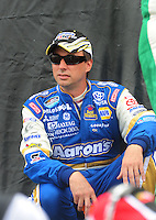 Apr 26, 2008; Talladega, AL, USA; NASCAR Nationwide Series driver David Reutimann prior to the Aarons 312 at the Talladega Superspeedway. Mandatory Credit: Mark J. Rebilas-
