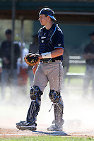 February 26, 2010:  Catcher Adam Nelson of the Villanova Wildcats during the Big East/Big 10 Challenge at Raymond Naimoli Complex in St. Petersburg, FL.  Photo By Mike Janes/Four Seam Images