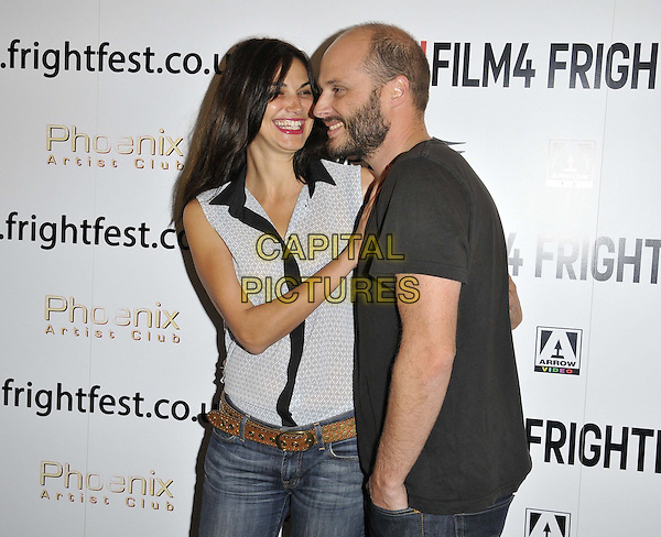 LONDON, ENGLAND - AUGUST 25: Helena Noguerra &amp; Fabrice Du Welz attend the &quot;Alleluia&quot; UK film premiere, Film4 FrightFest day 5, Vue West End cinema, Leicester Square, on Monday August 25, 2014 in London, England, UK. <br /> CAP/CAN<br /> &copy;Can Nguyen/Capital Pictures