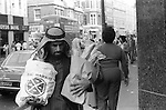 Arabs London UK 1977. Middle Eastern people came to Britain for subsidised health care in Harley Street clinics. They mainly stayed in cheap hotels in Earls Court.