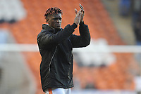 Blackpool's Armand Gnanduillet applauds fans at the final whistle<br /> <br /> Photographer Kevin Barnes/CameraSport<br /> <br /> The EFL Sky Bet League One - Blackpool v Walsall - Saturday 9th February 2019 - Bloomfield Road - Blackpool<br /> <br /> World Copyright © 2019 CameraSport. All rights reserved. 43 Linden Ave. Countesthorpe. Leicester. England. LE8 5PG - Tel: +44 (0) 116 277 4147 - admin@camerasport.com - www.camerasport.com
