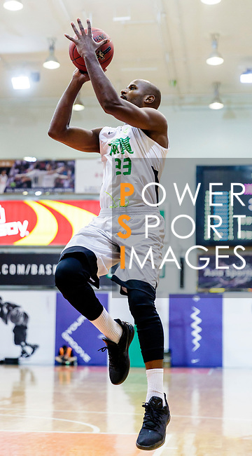 Austin Bryant M #23 of Tycoon Basketball Team attempts to score during the Hong Kong Basketball League game between Tycoon and SCAA at Southorn Stadium on May 23, 2018 in Hong Kong. Photo by Yu Chun Christopher Wong / Power Sport Images