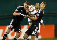 WASHINGTON, D.C - April 05 2014: D.C. United vs the New England Revolution in an MLS match at RFK Stadium, in Washington D.C. United won 2-0.