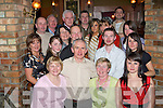 PARTY SURPRISE: Michael Conway, Lixnaw, standing centre front, having a great time with friends and family at his surprise 50th birthday party held in the Meadowlands Hotel on Saturday night.   Copyright Kerry's Eye 2008