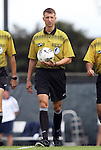 25 September 2011: Match referee Matthew Jozaitis. The University of Virginia Cavaliers defeated the University of North Carolina Tar Heels 1-0 in overtime at Fetzer Field in Chapel Hill, North Carolina in an NCAA Division I Women's Soccer game.