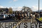The riders leave the Heights Hotel, Killarney at the Kingdom Hunt club hunt in Killarney on Sunday.