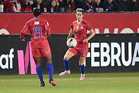 CARSON, CA - FEBRUARY 7: Megan Rapinoe #15  of the United States passes off the ball during a game between Mexico and USWNT at Dignity Health Sports Park on February 7, 2020 in Carson, California.