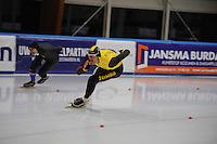SCHAATSEN: LEEUWARDEN, 22-10-2016, Elfstedenhal, KNSB Trainingswedstrijden, Hein Otterspeer, Jesper Hospes, ©foto Martin de Jong