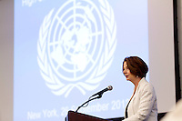 Australian Prime Minister Julia Gillard speaks during the UN Secretary General's High-Level meeting on the Sahel at UN Headquarters in New York. Photo by Trevor Collens.