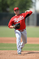 Cincinnati Reds pitcher Ty Boyles (51) during an Instructional League game against the Milwaukee Brewers on October 6, 2014 at Maryvale Baseball Park Training Complex in Phoenix, Arizona.  (Mike Janes/Four Seam Images)
