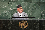 LOS general debate &ndash; 27 September<br /> <br /> PM<br /> <br /> His Excellency Sharma OLi Prime Minister of the Federal Democratic Republic of Nepal
