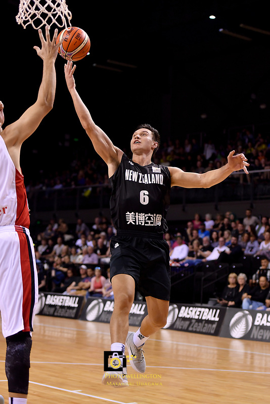 New Zealand Tall Blacks&rsquo; Jarrod Kenny in action during the FIBA World Cup Basketball Qualifier - NZ Tall Blacks v Syria at TSB Bank Arena, Wellington, New Zealand on Sunday 2 2018. <br /> Photo by Masanori Udagawa. <br /> www.photowellington.photoshelter.com