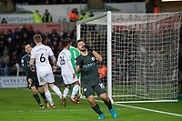 Sergio Aguero of Manchester City rues a miss during the EPL - Premier League match between Swansea City and Manchester City at the Liberty Stadium, Swansea, Wales on 13 December 2017. Photo by Mark  Hawkins / PRiME Media Images.