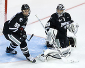 Daniel New (PC - 55), Justin Gates (PC - 29) - The Boston University Terriers defeated the visiting Providence College Friars 6-1 on Friday, January 20, 2012, at Agganis Arena in Boston, Massachusetts.