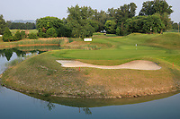 A general view of the 2nd hole, Par 3 during previews for the Shot Clock Masters, Diamond Country Club, Atzenbrugg, Vienna, Austria. 06/06/2018<br /> Picture: Golffile | Phil Inglis<br /> <br /> All photo usage must carry mandatory copyright credit (&copy; Golffile | Phil Inglis)