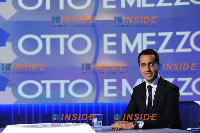 Luigi Di Maio Movimento 5 Stelle M5S<br /> Roma 03/06/2013 Rai<br /> Trasmissione 8 e mezzo <br /> Foto GB / Insidefoto