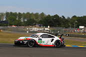 June 14 and 15th 2017,  Le Mans, France; Le man 24 hour race qualification sessions at the Circuit de la Sarthe, Le Mans, France;  #92 PORSCHE GT TEAM  (DEU) PORSCHE 911 RSR LMGTE PRO  MICHAEL CHRISTENSEN (DNK) KEVIN ESTRE (FRA) DIRK WERNER (DEU)