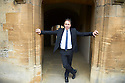 Anthony Horowitz , novelist and writer for television and a new Sherlock Holmes book at The Oxford Literary Festival at Christchurch College Oxford  . Credit Geraint Lewis