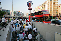 Mecidiyekoy town centre and the exit to the metro, Istanbul, Turkey