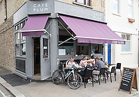 Chiswick. Greater London. Cafe Plum. - Chiswick Mall and embankment  Leading from Chiswick to Fulham Reach RC. Sunday.  24.07.2016  [Mandatory Credit: Peter Spurrier/Intersport-images.com]