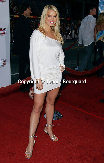 "Jessica Simpson arriving at the Premiere of "" Charlie's Angels "" at the Chinese Theatre in Los Angeles. June 18, 2003."