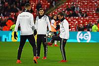 Mario Goetze (Deutschland, Germany), Sandro Wagner (Deutschland Germany), Sebastian Rudy (Deutschland Germany) - 10.11.2017: England vs. Deutschland, Freundschaftsspiel, Wembley Stadium