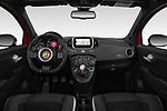 Stock photo of straight dashboard view of a 2018 Abarth 595 C Competizione 2 Door Convertible