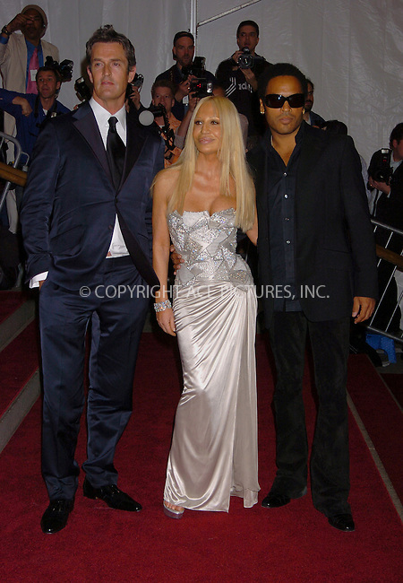 "WWW.ACEPIXS.COM . . . . .  ....NEW YORK, MAY 1, 2006....Lenny Kravitz, Donatella Vesace and Rupert Everett at the ""AngloMania"" Costume Institute Gala at The Metropolitan Museum of Art.....Please byline: AJ Sokalner - ACEPIXS.COM.... *** ***..Ace Pictures, Inc:  ..(212) 243-8787 or (646) 769 0430..e-mail: picturedesk@acepixs.com..web: http://www.acepixs.com"