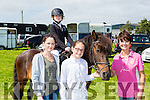 Kaia Steadman Kenmare on her horse Ritz getting prepared to jump with the help of Caroline Lynch, Jodie O'Shea, Jill Moffatt at the Killorglin Pony show on Sunday