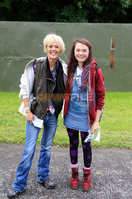 Fay and Pauline McAllister at Slane Concert with Eminem 2013 on Saturday 17th August 2013 <br /> Picture:  Thos Caffrey / www.newsfile.ie