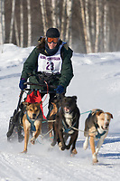 Stacey Motsenbocher, 2007 Limited North American Championship Sled dog race in Fairbanks, Alaska.