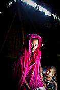 18 month malnourished Khushi (right) seen with her aunt in her hut in Bishambharpur in Muzaffarpur in Bihar, India. Photograph: Sanjit Das/Panos for Legatum Foundation