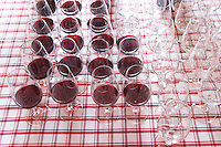 Wine tasting. Wine glasses. J Portugal Ramos Vinhos, Estremoz, Alentejo, Portugal