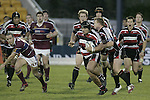 Roger Faualetoelau makes a strong run upfield during the Air NZ Cup game between the Counties Manukau Steelers and Southland played at Mt Smart Stadium on 3rd September 2006. Counties Manukau won 29 - 8.