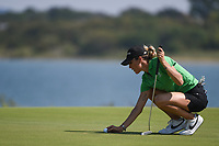 Jaye Marie Green (USA) lines up her putt on 11 during round 4 of the Volunteers of America Texas Classic, the Old American Golf Club, The Colony, Texas, USA. 10/6/2019.<br /> Picture: Golffile | Ken Murray<br /> <br /> <br /> All photo usage must carry mandatory copyright credit (© Golffile | Ken Murray)