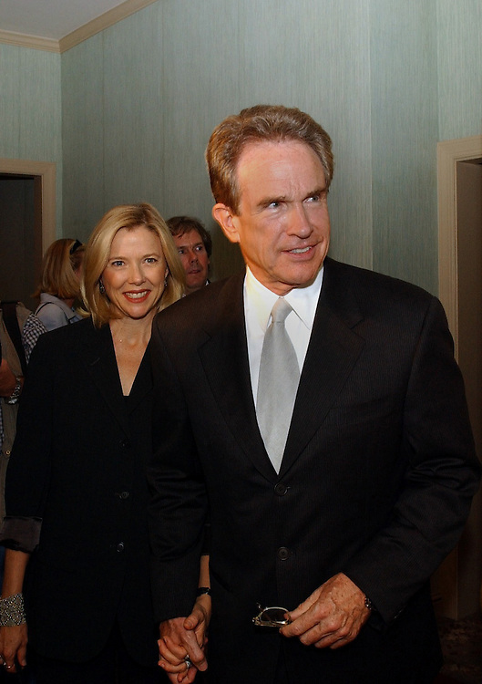 1reception -- Annette Bening  and Warren Beatty were the featured guests at a reception to kick off the new political group, Progressive Majority.