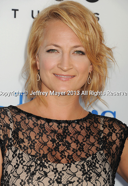 HOLLYWOOD, CA- AUGUST 21: Actress Zoe Bell arrives at the Los Angeles premiere of 'The World's End' at ArcLight Cinemas Cinerama Dome on August 21, 2013 in Hollywood, California.