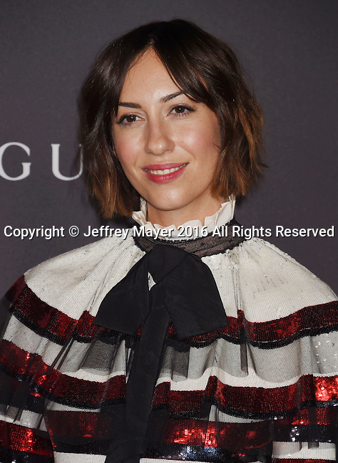 LOS ANGELES, CA - OCTOBER 29: Director Gia Coppola attends the 2016 LACMA Art + Film Gala honoring Robert Irwin and Kathryn Bigelow presented by Gucci at LACMA on October 29, 2016 in Los Angeles, California.