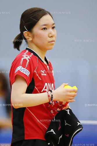 Kasumi Ishikawa (JPN), APRIL 22, 2015 - Table Tennis : Japan national team training session for 2015 World Table Tennis Championships in Tokyo at Ajinomoto National Training Center, Tokyo, Japan. (Photo by Yusuke NakanishiAFLO SPORT)