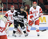 Melissa Haber (BU - 33), Jackie Duncan (Providence - 19), Carly Warren (BU - 6) - The Boston University Terriers defeated the Providence College Friars 5-3 on Saturday, November 14, 2009, at Agganis Arena in Boston, Massachusetts.