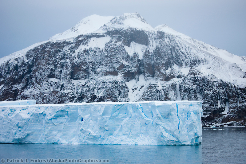 Floating icebergs near Paulet Island, Antarctic peninsula.