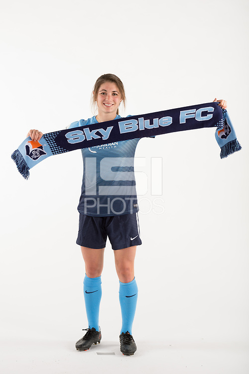Belmar, NJ - Wednesday March 29, 2017: McKenzie Meehan poses for photos at the Sky Blue FC team photo day.