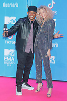 BILBAO, SPAIN-November 04: Sway and  Becca Dudley attend the EMA 2018 at BEC (Bilbao Exhibition Center) in Bilbao, Spain on the 4 of November of 2018. November04, 2018.  ***NO SPAIN*** <br /> CAP/MPI/RJO<br /> &copy;RJO/MPI/Capital Pictures