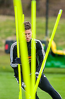 Tuesday 19 April 2016<br /> Pictured: Federico Fernandez of Swansea City  <br /> Re: Swansea City Training Session ahead of the away game against Leicester City FC