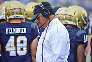 Annapolis, MD - September 8, 2018: Navy Midshipmen head coach Ken Niumatalolo on the sideline during game between Memphis and Navy at  Navy-Marine Corps Memorial Stadium in Annapolis, MD. (Photo by Phillip Peters/Media Images International)