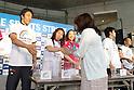 "Nobuharu Asahara, Saori Yoshida, Juri Tatsumi, JULY 3, 2011 - Athletics : ""Road to Hope"" Kobe Sports Street, They collected money for charity for victims of the 2011 Tohoku Earthquake and Tsunami. Hyogo, Japan. (Photo by Akihiro Sugimoto/AFLO SPORT) [1080]"