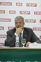 ATENÇÃO EDITOR: FOTO EMBARGADA PARA VEÍCULOS INTERNACIONAIS. SAO PAULO, 05 DE SETEMBRO DE 2012. SEMINARIO  OPORTUNIDADES DE NEGOCIOS EM PORTUGAL. O    Presidente da AICEP - Agência de Investimento de Portugal, Pedro Reis, durante o Seminario Oportunidades de Negocios em Portugal que aconteceu na FIESP na manhã desta quarta feira na zona sul da capital paulista.  FOTO ADRIANA SPACA/BRAZIL PHOTO PRESS