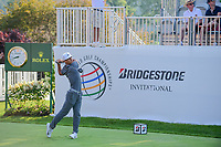 Thorbjorn Olesen (DEN) on the 1st tee during the first round of the WGC Bridgestone Invitational, Firestone country club, Akron, Ohio, USA. 03/08/2017.<br /> Picture Ken Murray / Golffile.ie<br /> <br /> All photo usage must carry mandatory copyright credit (&copy; Golffile | Ken Murray)
