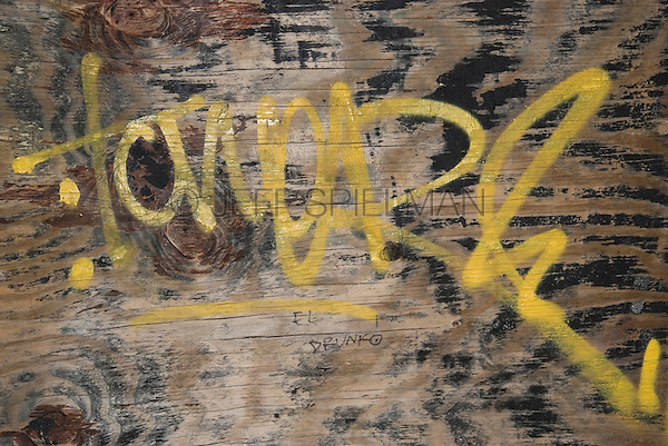 Detail of a Wall with Graffiti, Mechanic's Alley, Chinatown, Lower Manhattan, New York City, New York State, USA